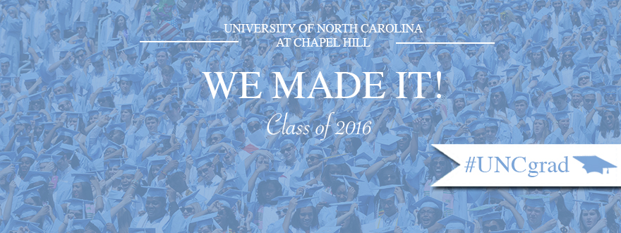 Downloadable Facebook cover photo featuring Carolina graduates