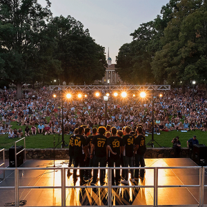 Photo of a cappella group singing at Sunset Serenade