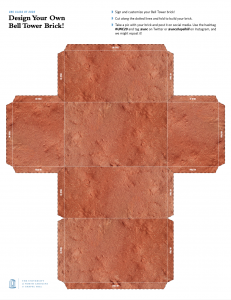 """A PDF of a """"build your own brick"""" template"""