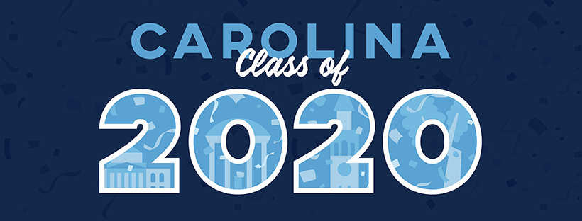 """A downloadable profile cover photo that says """"Carolina Class of 2020"""""""