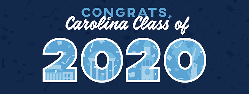 """A downloadable cover photo image that says """"Congrats, Carolina Class of 2020"""""""