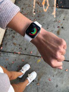Apple watch on a wrist