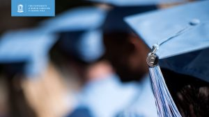 Carolina graduates blurred